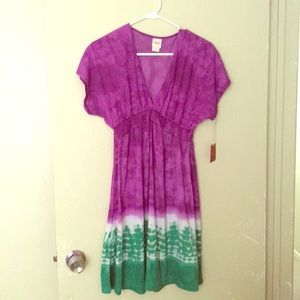 Mossimo purple tie dye dress